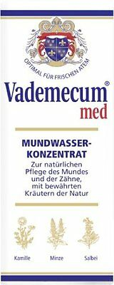 8 BOTTLES Vademecum med Mouthwash & Gargle Concentrate 8x75ml (= 7.5 oz) New