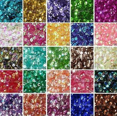 New DIY 2000 pcs Oval Round Cup Sequins Paillettes Loose AB 6mm Wedding Craft