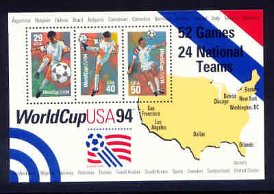 1994 - US  #2837 - 1994 World Cup Soccer - Souvenir Sheet