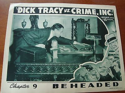 VINTAGE DICK TRACY vs CRIME INC Movie Poster. COOL! A Must See!