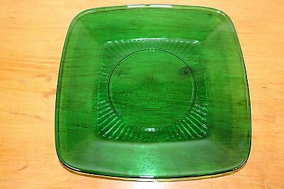 Vintage Anchor Hocking Charm Forest Green Luncheon Plate