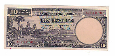 French Indochina 10 Piastres 1947 Pick# 80 ( #897)