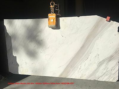 Imperial White Marble slab