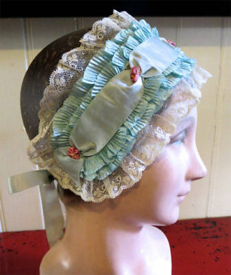 Antique Headpiece Vtg All Silk Ribbons Edwardian Or Victorian Exc Condition Wear