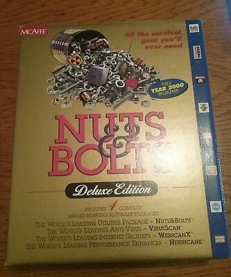 Vintage McAfee Computer CD ROM - Nuts & Bolts DELUXE EDITION