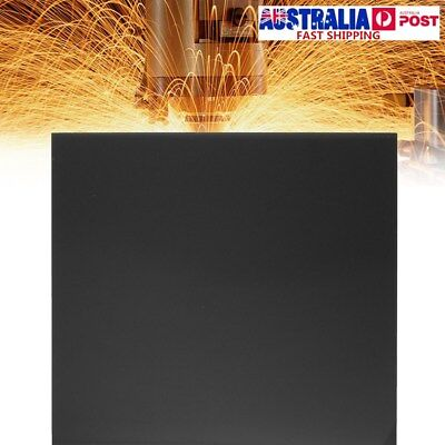 12'' Square Black Acrylic Plexiglass Cast Sheets Reflective Background 3mm Thick