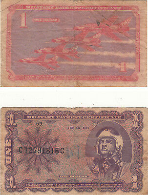 Us Military Payment Certificate $1,series 681,# C12791816C