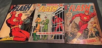 Dc The Flash # 198,200,219, Lot Mid Grade Glossy Free Shipping