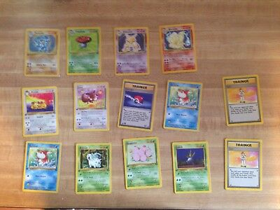 Lot of 14 Pokemon Cards. 4 Holo's, 8 1st Edition Jungles, 2 Lass trainer