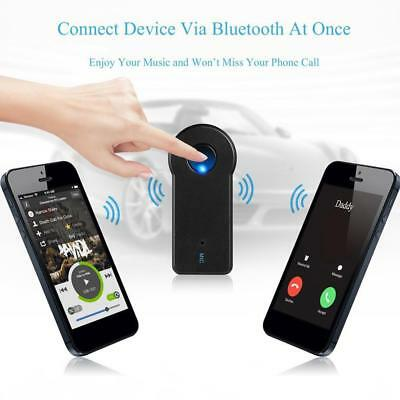 Wireless Bluetooth 3.5mm AUX Audio Stereo Music Home Car Receiver Adapter KI~~