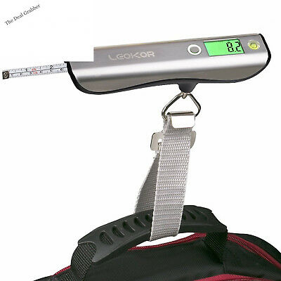 Luggage Scale, LEOKOR Hand Scales with Tape Measure for Travel Baggage Weight
