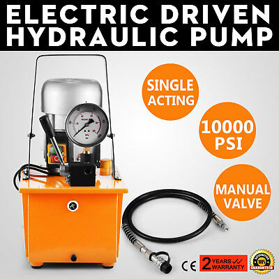 10000 PSI Single Solenoid Valve Two-Circuit 110V Electric Driven Hydraulic Pump