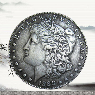 39mm Copper core Tibet silver 1888 Morgan Dollar Copy Coin - High Quality