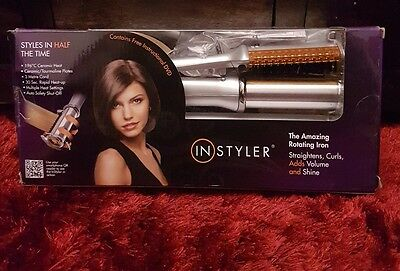 InStyler 32mm Silver Titanium Rotating Iron Straightener Curler Curling Tong