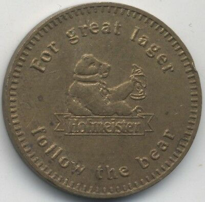 Hofmeister 1094 Lager Token Follow The Bear***Collectors***