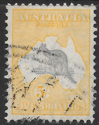 ROO'S     5/-  GREY & YELLOW  C of A WMK
