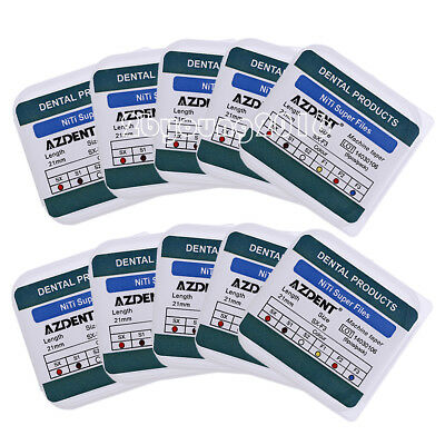 10Box Dental Endodontics NiTi Engine Use Super Rotary Files SX-F3 21mm 6pcs/kit