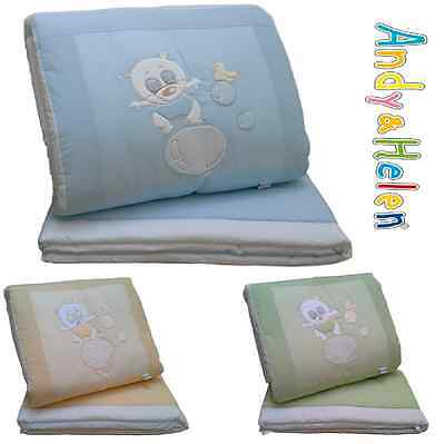 Winter quilt Crib Cot Piumotto Embroidered + Bumpers ANDY AND HELEN R02V3