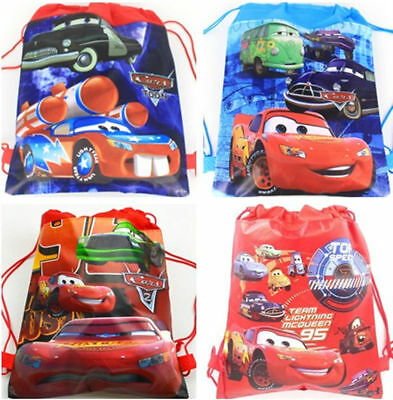 Cute Cars McQueen Cartoon Drawstring Backpack Kids School Bag