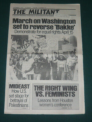 The Militant newspaper/Dec 9 1977/Costa Rica OST/Iran Protests/Phyllis Schlafly