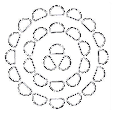 50pcs Metal D Ring for Luggage bags SS