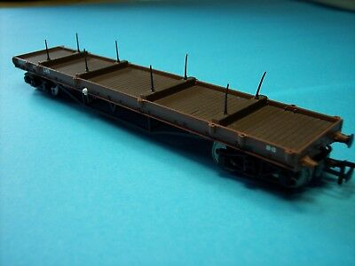 4off Bachmann Branch Line 00, 2xLMS Bogie Bolster, 5 & 8 Plank Wagons