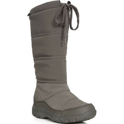 be855a2f511d2 TRESPASS LADIES WATERPROOF THERMAL WINTER SNOW BOOTS GREY BLACK 4-37 ...
