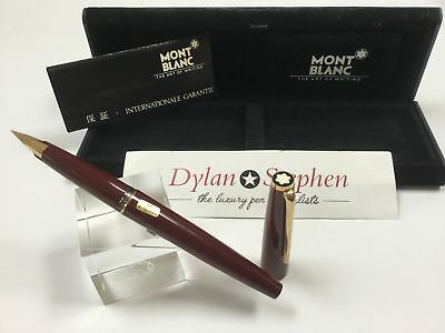 montblanc vintage 1980's burgundy fountain pen NEVER BEEN USED + box M nib