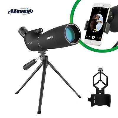 Zoom 25-75X70 Angled Spotting Scope BAK7 Lens Telescope Waterproof With Tripod