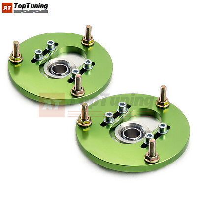 Coilover Top Mounts Front Camber Plates Pair +/-3 B For Bmw E36 320 323 325 Cac