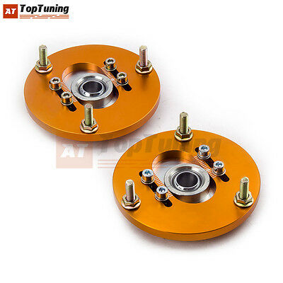 +/-3 Adj. Front Coilover Camber Plate For BMW E36 328 323 325 M3 Top Upper Mount
