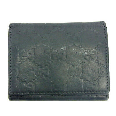 Auth GUCCI business card holder GUCCI Shima unisexused J12692