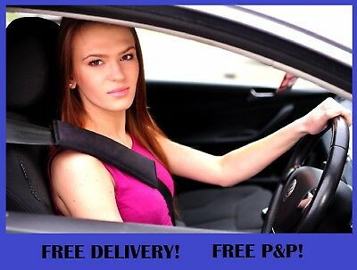 Seat Belt Pads Harness Cushioned Safety Shoulder Strap Cover Black Red Grey