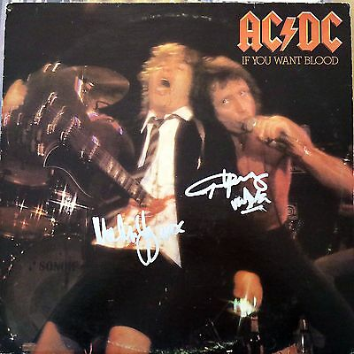 AC/DC SIGNED If You Want Blood LP JSA Authenticated