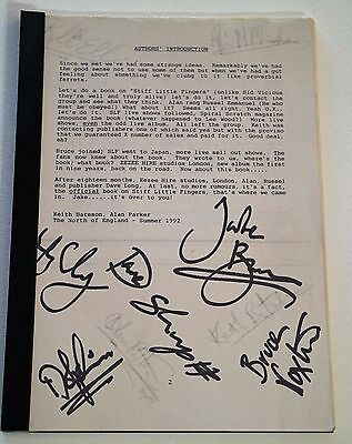 """STIFF LITTLE FINGERS SIGNED """"Draft"""" Book REAL Authenticated"""