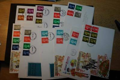 1968 Collection of Machin first day covers some Good cancels many photos (J013)