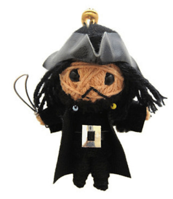Blackbeard Pirate Pirates of Caribbean Voodoo String Doll Keychain Keyring USA