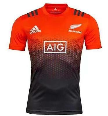 All Blacks Red Training Rugby Jersey