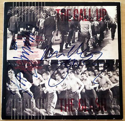 """THE CLASH SIGNED """"The Call Up"""" CD sleeve Real Authenticated"""