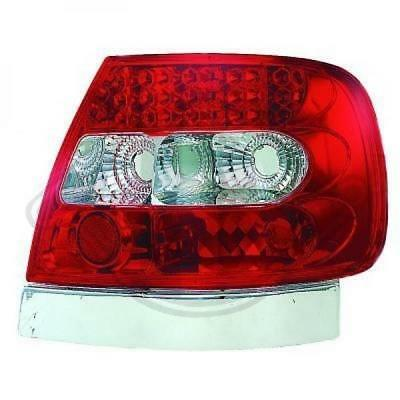 LED Rückleuchten Set Audi A4 BJ 94-00 (B5) Klarglas / Rot / Chrome