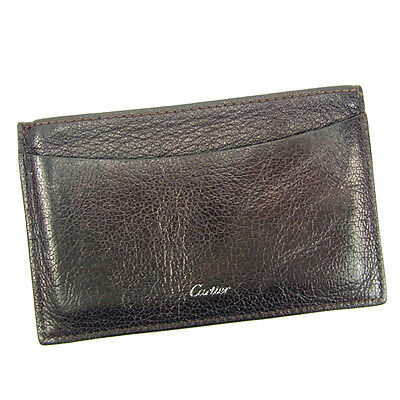 Auth Cartier business card holder used J13198