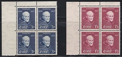 1957 Ireland Father Luke Wadding Set 2v Blocks + Margins MNH SG170/1 CV £70+