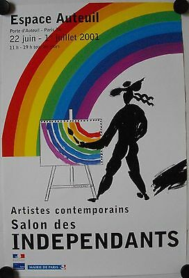 Affiche ARTISTES CONTEMPORAINS 2001 Salon Indépendants Paris