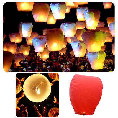 10pcs Sky Flying Wishing Lucky Chinese KongMing Lanterns Lamp for Birthday Party