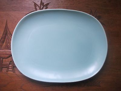 "Poole Pottery Twin tone Ice Green rectangula platter  13.1//2"" X 10""  (34x25cms)"