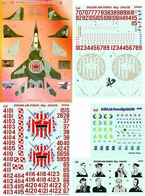 1/32 Mig-29A/UB Polish Air Force 4 sheets Phoenix 32024
