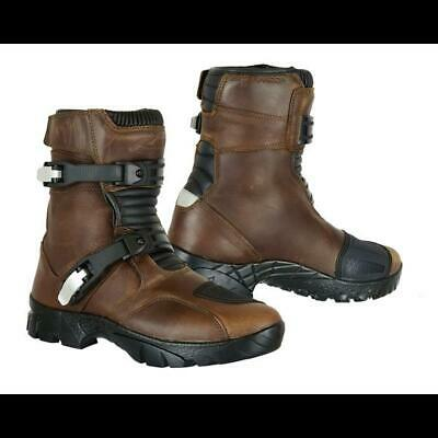 Raxid Basta Genuine Leather Waterproof Motorbike Adventure Boots Shoes