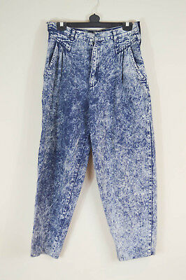 Vintage Mom Jeans, Size 12-14, Retro 90s 80s Acid Wash High Waist Grunge