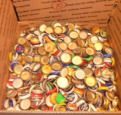 12 lbs 2500+/- used beer bottle caps for crafts box #10 free us shipping