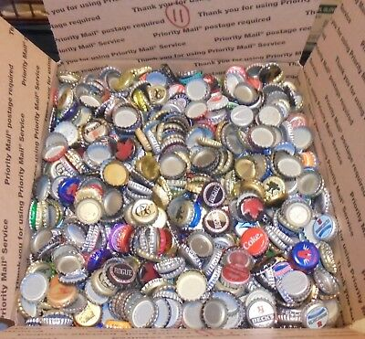 12 lbs 2500+/- used beer bottle caps for crafts box #11 free us shipping